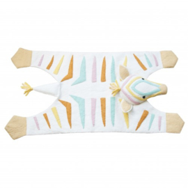 Kinderkamer Vloerkleed Naturel Pastel Zebra Fiona Walker