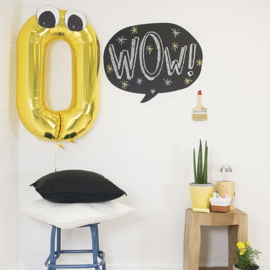 Muursticker Kinderkamer Chispum: Balloon blackboard