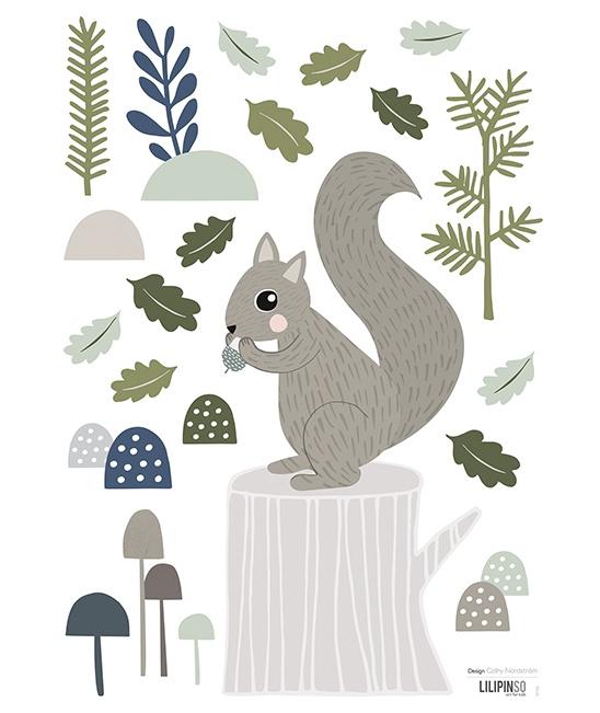 Muurstickers kinderkamer Lilipinso Squirrel
