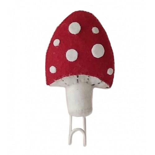 Wandhaakje Mushroom Red Fiona Walker