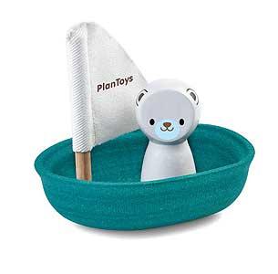 Sailing Boat Polar Bear Plan Toys