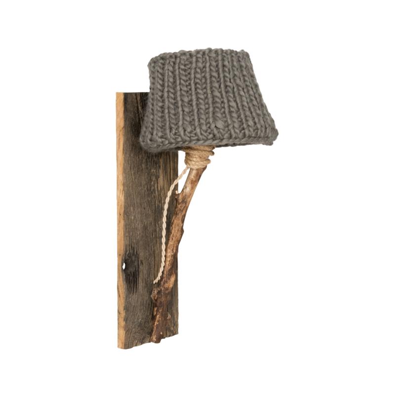 "Kinderkamer Wandlamp hout ""Taupe"""