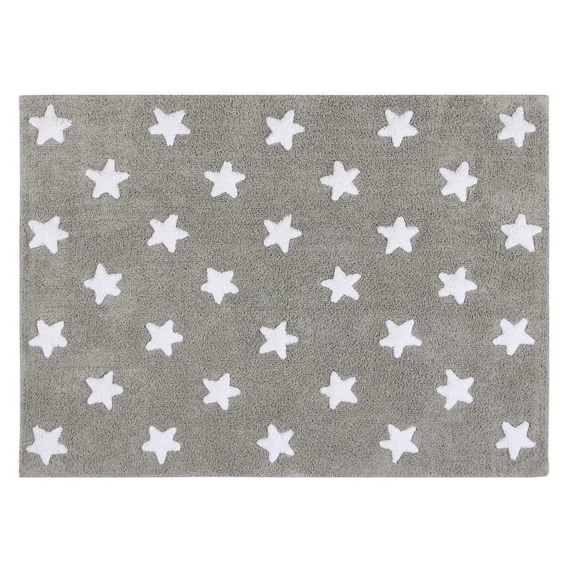 Vloerkleed Kinderkamer Stars Grey