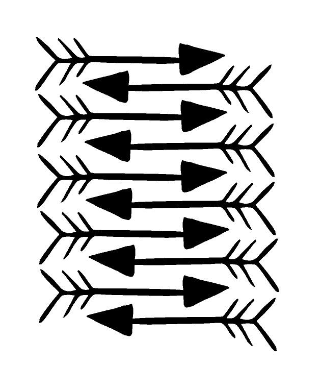 "Muurstickers Kinderkamer ""Black Arrows"""