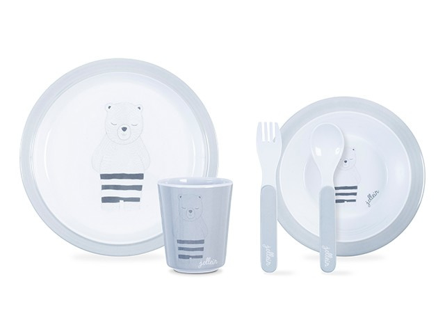 Dinnerset Wild Animals Grey Jollein