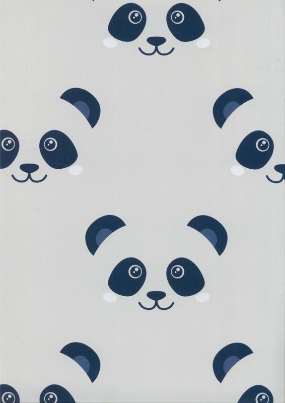 Behang Kinderkamer Big Panda Grijs/Blauw Fabs World