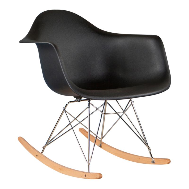 Hobbelstoel Voor Volwassenen.Schommelstoel Volwassenen Eames Zwart Schommelstoelen