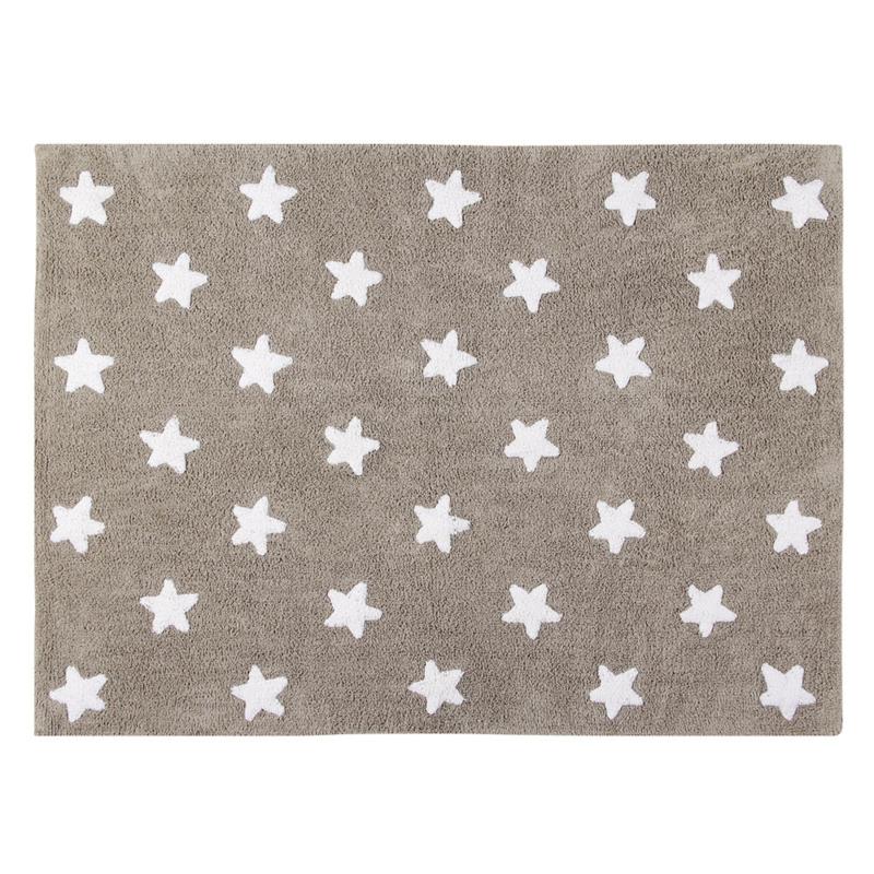 Vloerkleed Kinderkamer Stars Taupe