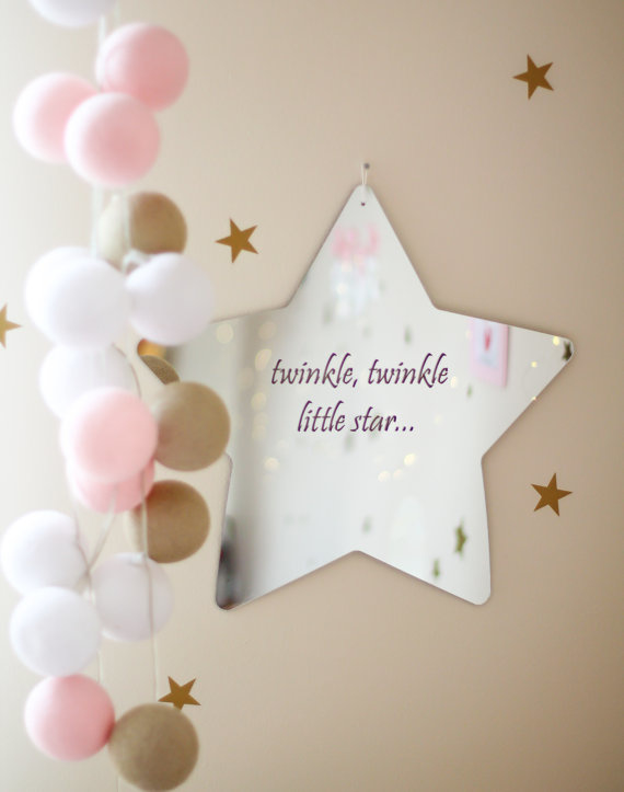 Spiegel Kinderkamer Twinkle Star Zilver