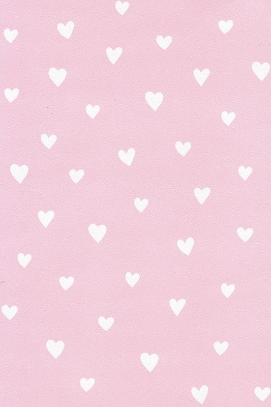 Behang Kinderkamer Roze.Behang Kinderkamer Roze Met Witte Hartjes Van Inke Behang