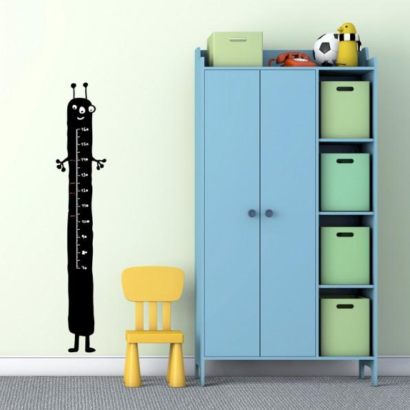 Muursticker Kinderkamer Chispum: Groeimeter Blackboard Alien