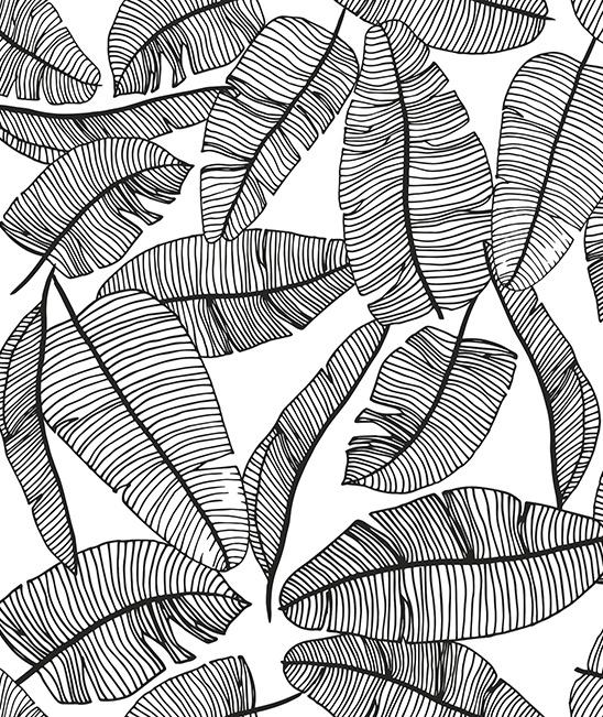 Wallpaper - Leaves Tropical Serengeti Lilipinso