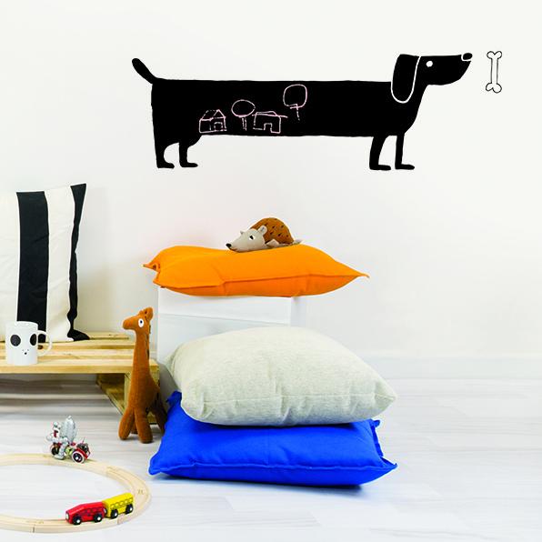 Muursticker Kinderkamer Chispum: Dog Blackboard