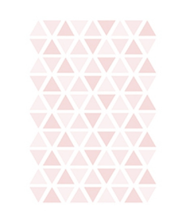 Muurstickers kinderkamer Triangle Sweet Pink
