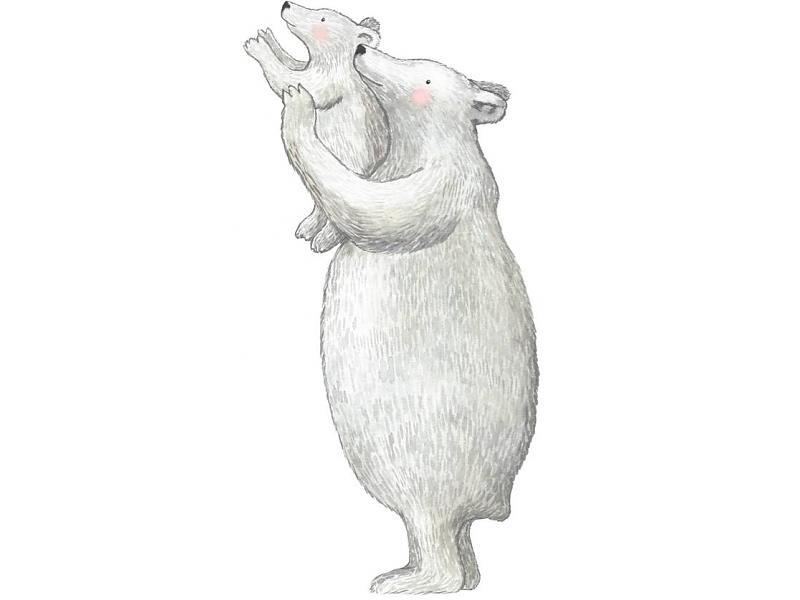 """Muursticker """"ijsberen"""" Hartendief"""