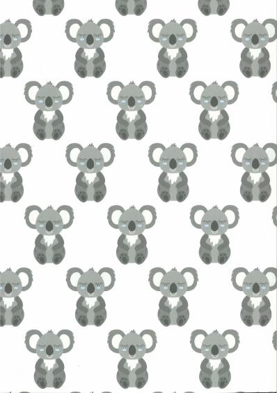 Behang Kinderkamer Koala Blauw Fabsworld