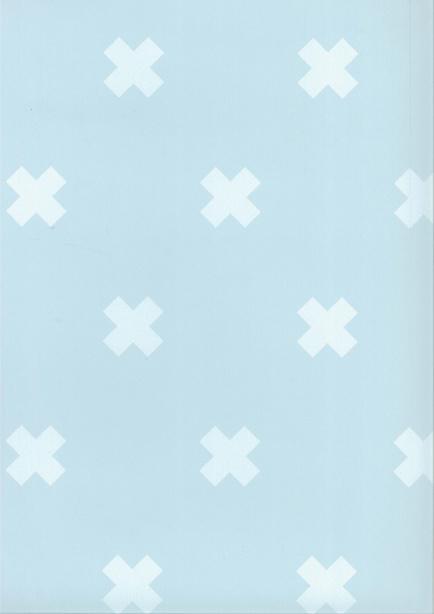 Behang Kinderkamer Crosses Blauw /Wit Fabs World