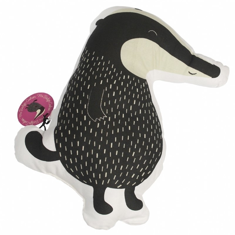 "Kussen Kinderkamer ""mr. Badger"" van Dotcomgiftshop"