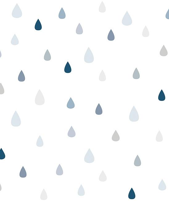 Behang kinderkamer Raindrops van Lilipinso
