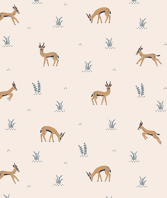 Behang Kinderkamer Playing Gazelles