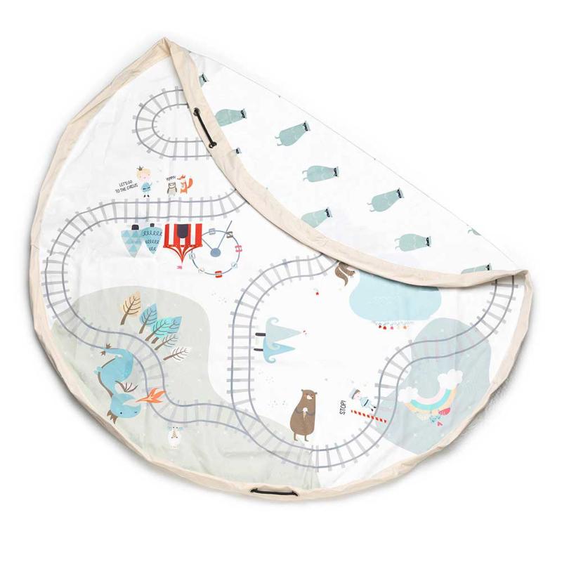 Play & Go Opbergzak en Speelgoedkleed Fairytale Trainmap