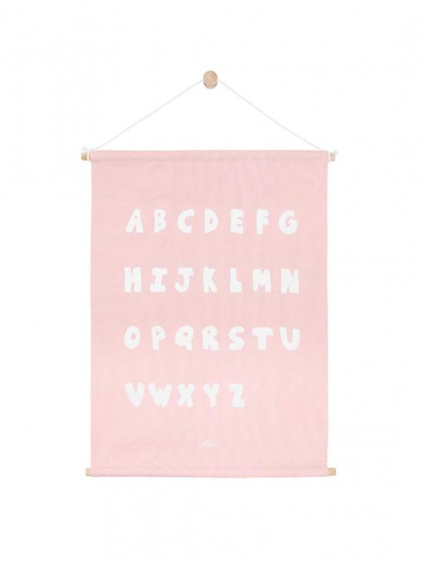 Poster Canvas ABC Blush Pink 42 x 60 cm Jollein
