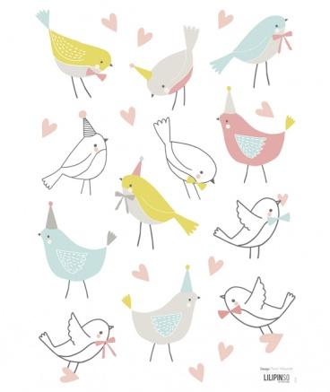 Muurstickers kinderkamer Happy Birds