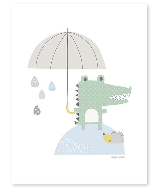 Poster kinderkamer Lilipinso: Krokodil  30 x 40 cm