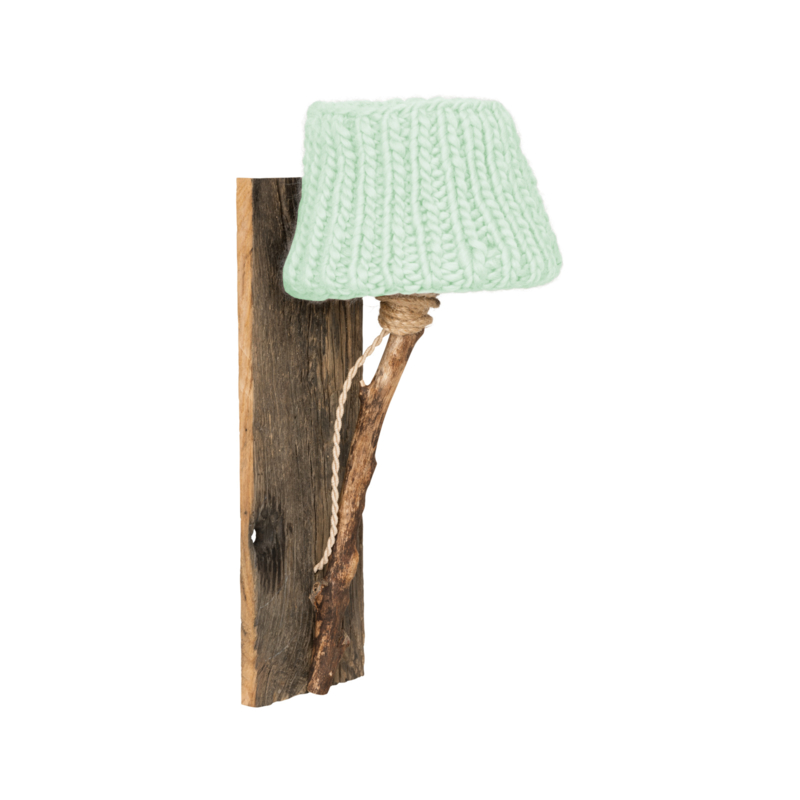"Kinderkamer Wandlamp hout ""Mint"""