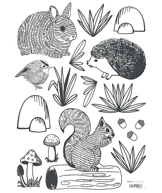 Muurstickers Kinderkamer Animals of the Forest Lilipinso