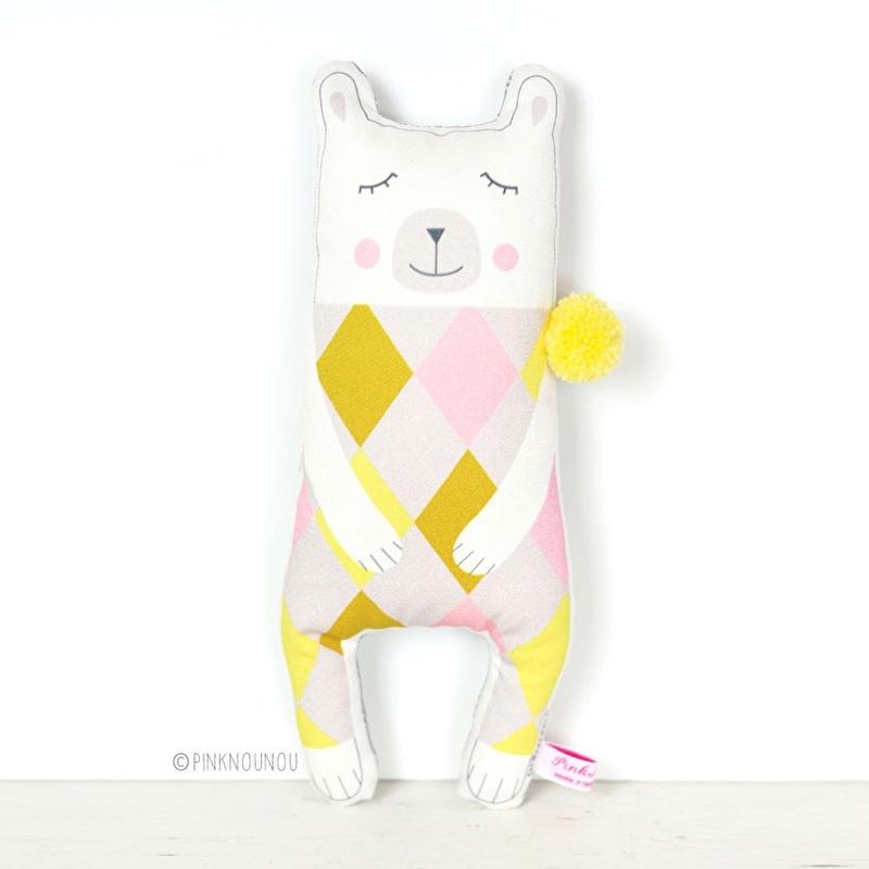 "Kussen Kinderkamer ""Polar Bear"" van PinkNouNou"
