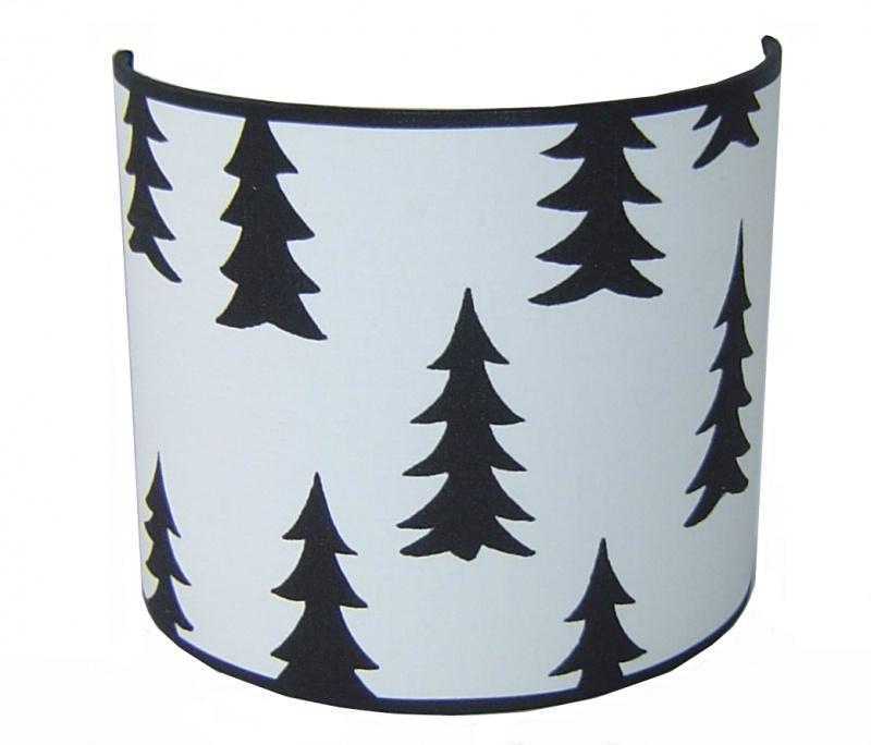 "Wandlamp Kinderkamer ""Pine"" Black & White"