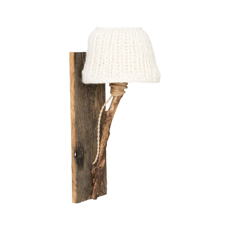 "Kinderkamer wandlamp hout ""White"""
