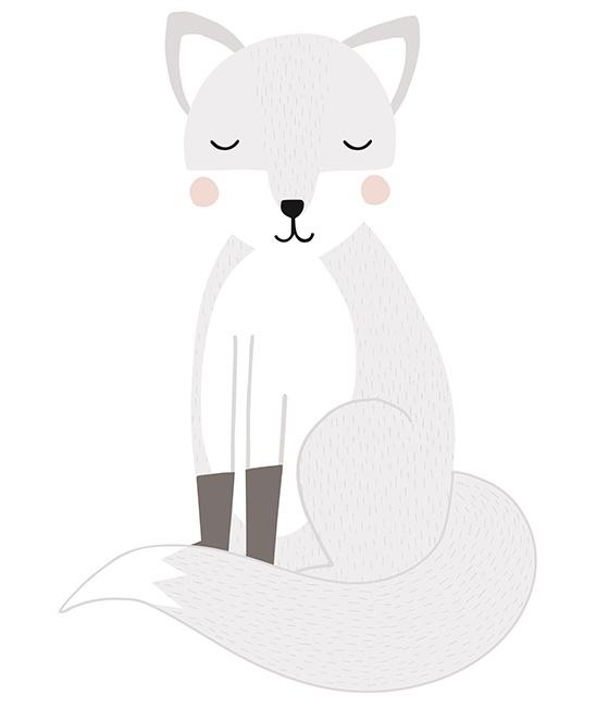 Muursticker Kinderkamer XL Fox van Lilipinso