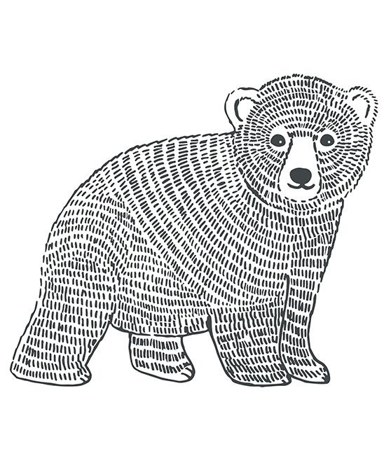 Muursticker Kinderkamer XL Bear Lilipinso