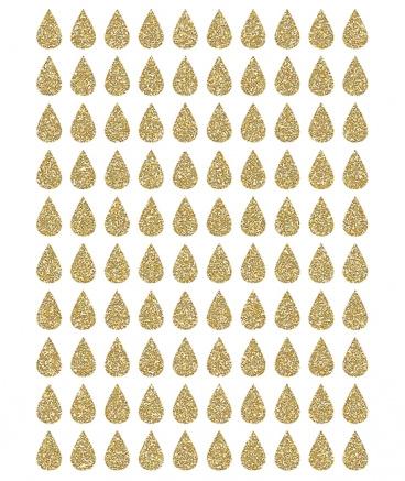 Muurstickers kinderkamer Drops Gold (Glitter) Lilipinso