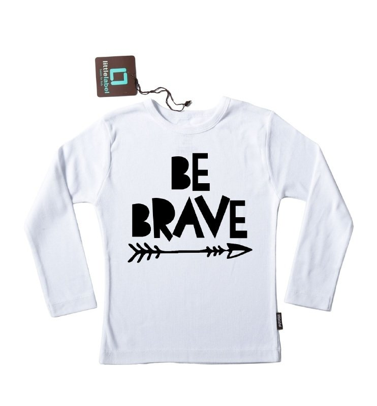 Strijkapplicatie 'Be Brave' van Pimp-Studio