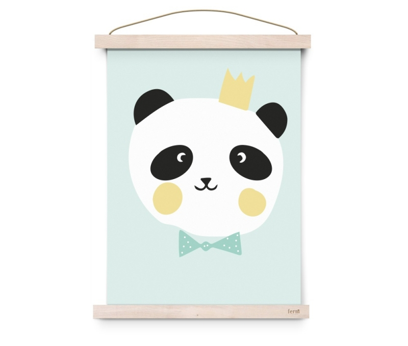 "Poster Kinderkamer ""King Panda"" Eef Lillemor"