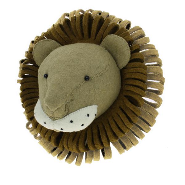 Dierenkop Leeuw Camel van Fiona Walker