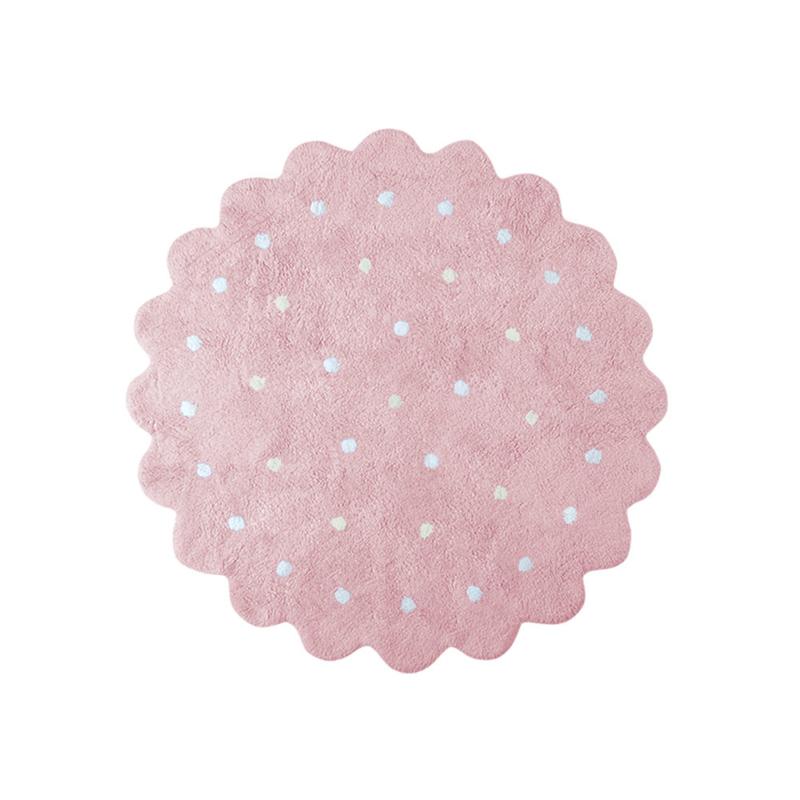 Vloerkleed Kinderkamer Roundy Biscuit Pink