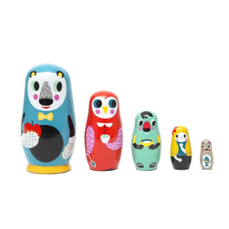 Sketch Inc nesting dolls -babushka's- matroeska's bosvriendjes Petit Monkey