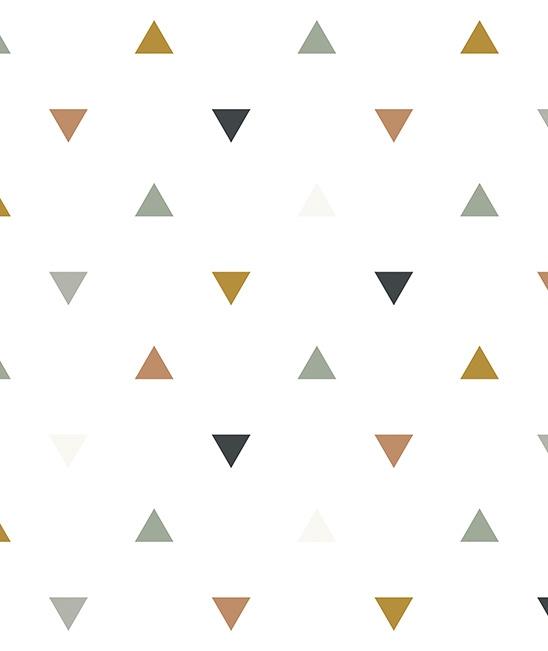 Behang Kinderkamer Triangles Blue Grey Beige