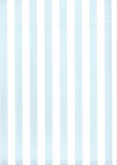 Behang Kinderkamer Blauw / Wit gestreept Fabs World