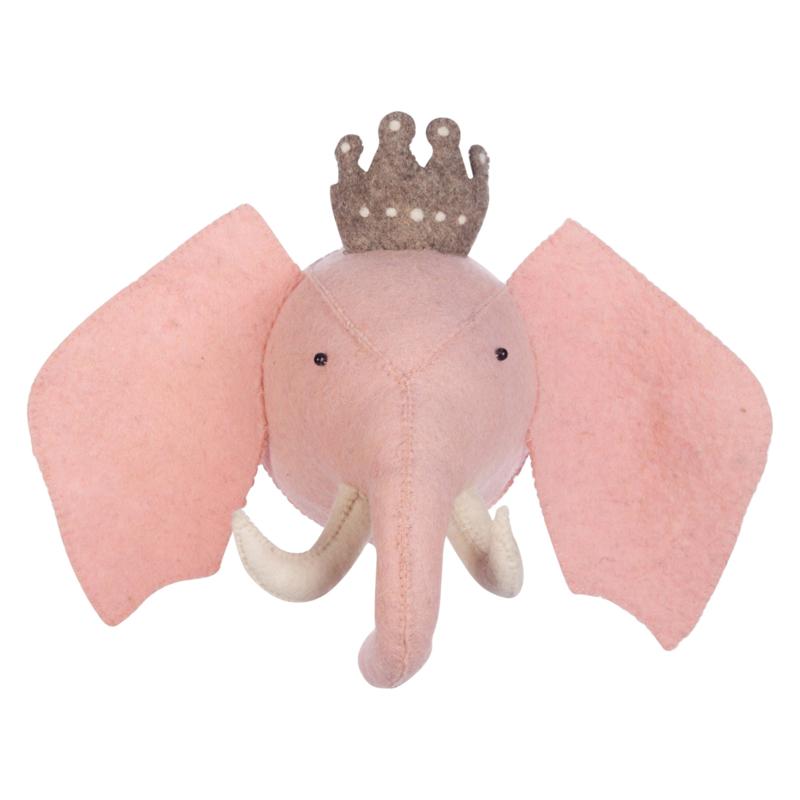 Dierenkop Kinderkamer Princess Elephant Kidsepot