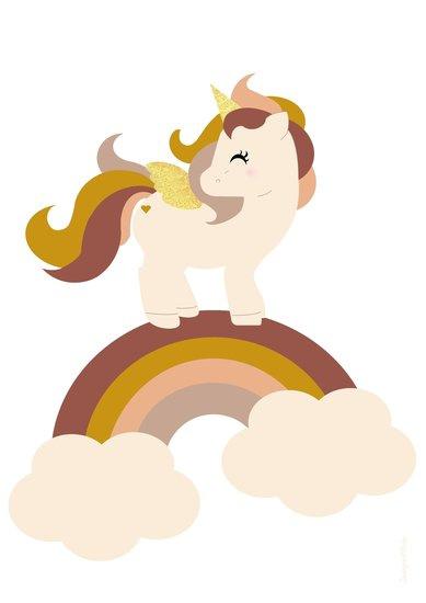 Kinderkamer Poster Unicorn Ochre
