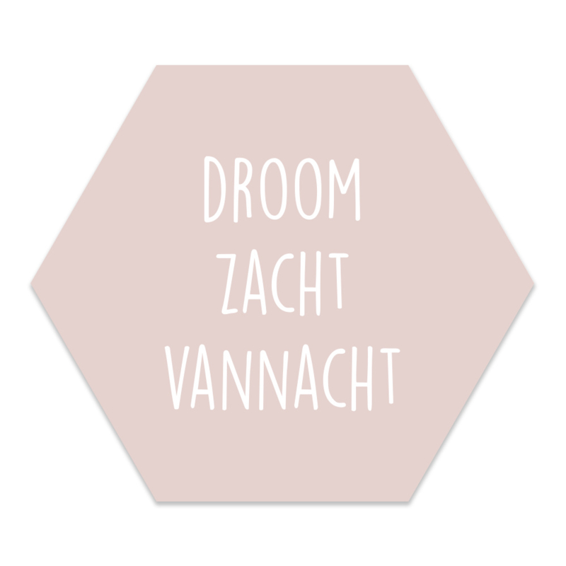Muurhexagon Kinderkamer Droom Zacht Roze