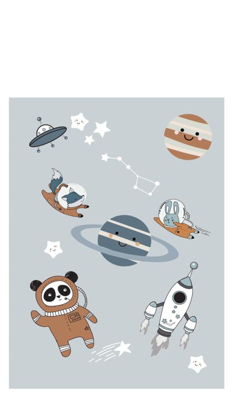 Poster Kinderkamer Space dubbelzijdig Little & Pure