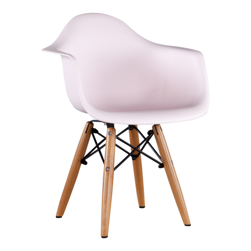 Kinderstoel Eames Junior Pastel roze