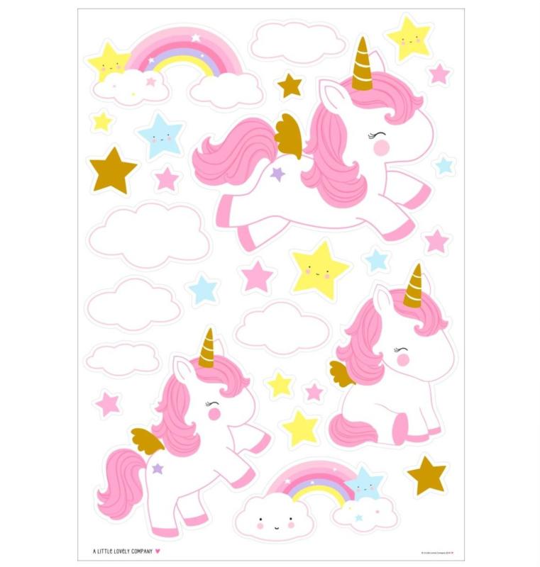 Muursticker Kinderkamer Unicorn A Little Lovely Company