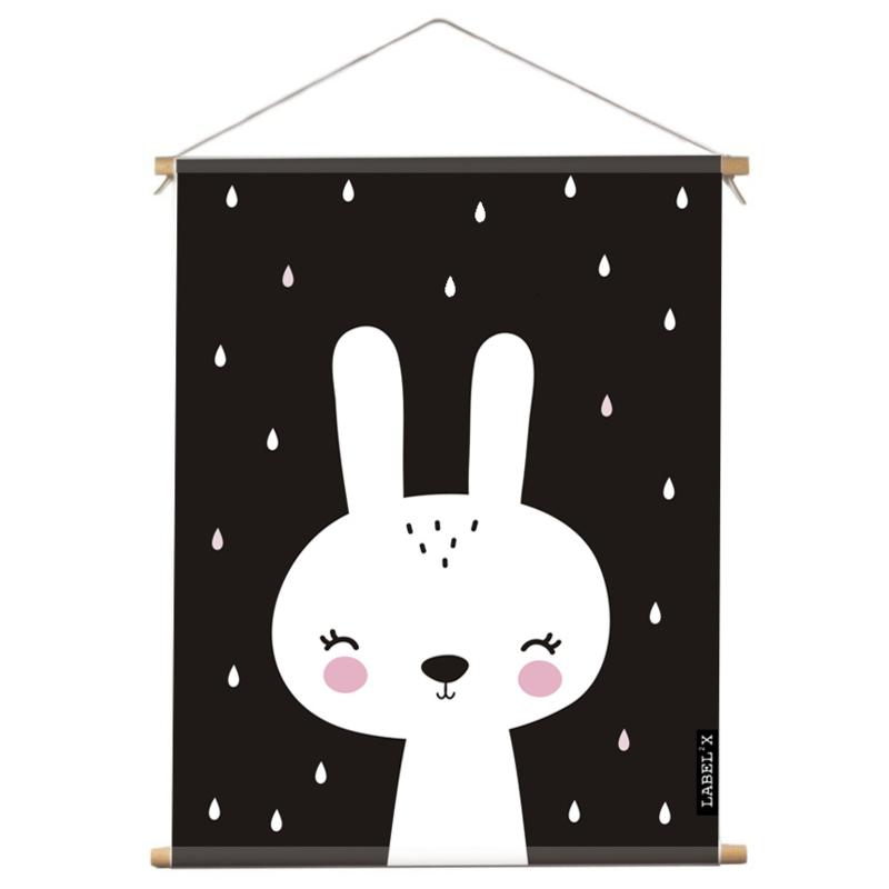 Poster Textiel Kinderkamer Lovely Rabbit